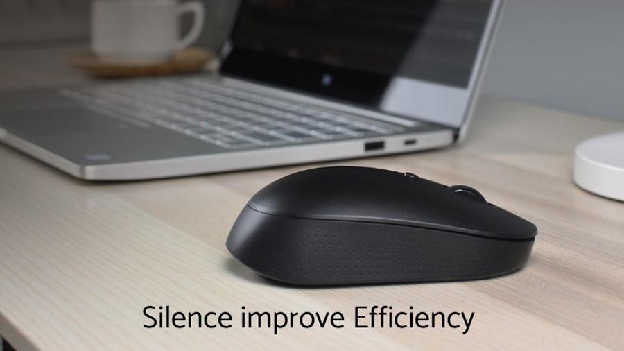 موس بیسیم سایلنت شیائومی Xiaomi Mi Silent Mouse WXSMSBMW02 دارای کارکرد کاملا بی صدا