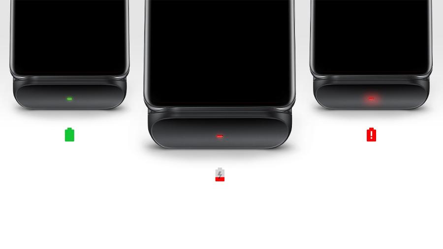 شارژر بیسیم سامسونگ Samsung EP-n3300 Wireless Charger Convertible دارای نشانگر ال ای دی برای بیان وضعیت