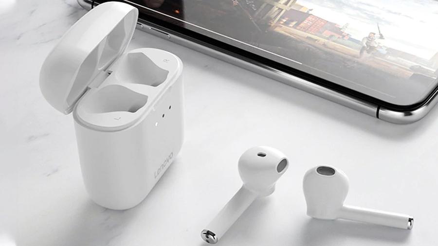 هندزفری بلوتوث لنوو Lenovo QT83 Bluetooth Earphones قابلیت اتصال اتوماتیک