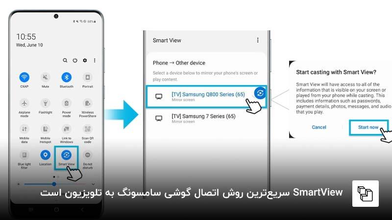 Smart View سریعترین روش اتصال گوشی سامسونگ به تلویزیون است