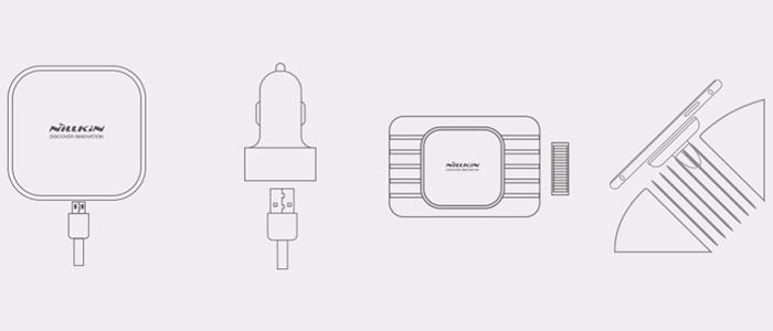 شارژر بی سیم مغناطیسی داخل خودرو نیلکین Nillkin Car Magnetic Wireless Charger MC015
