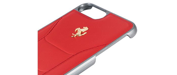 قاب محافظ چرمی آیفون Ferrari Leather Case iPhone 7 Plus