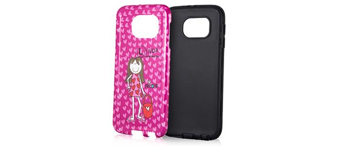 قاب محافظ گوشی سامسونگ طرح دختر صورتی Mobile Case Samsung S6
