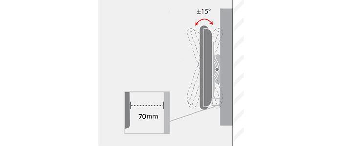 براکت دیواری متحرک تلویزیون LCDarm TW-460 TV Stand