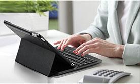 کاور و کیبورد بی سیم آیپد ایر 2 پرومیت Promate Bare-Air2 Wireless Keyboard Case iPad Air 2