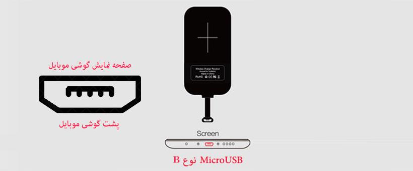 گیرنده شارژر وایرلس روموس مناسب اندروید Micro USB