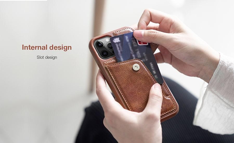 کاور محافظ چرمی برای گوشی iphone 12 pro max