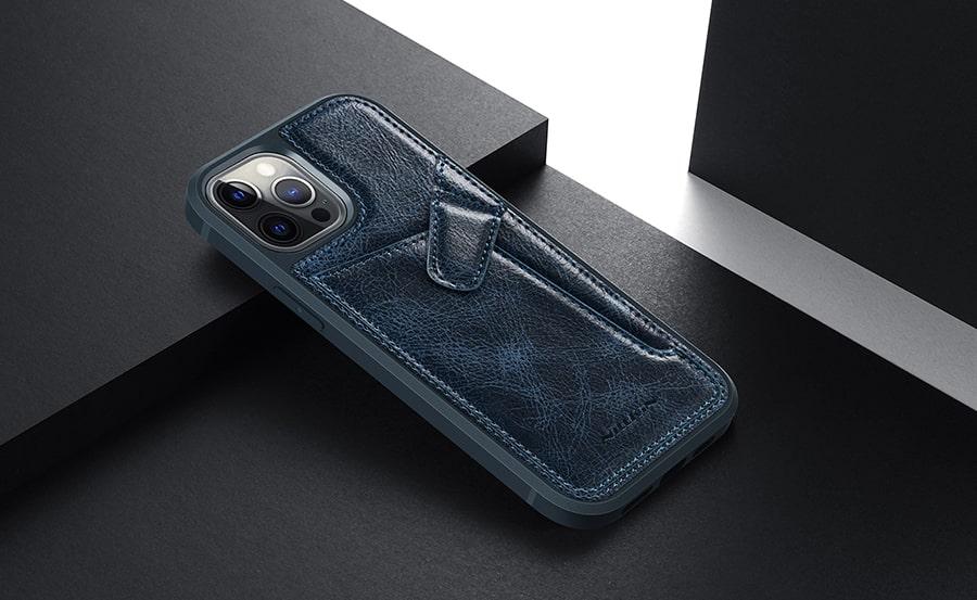 قاب چرمی رنگی برای گوشی آیفون12pro max