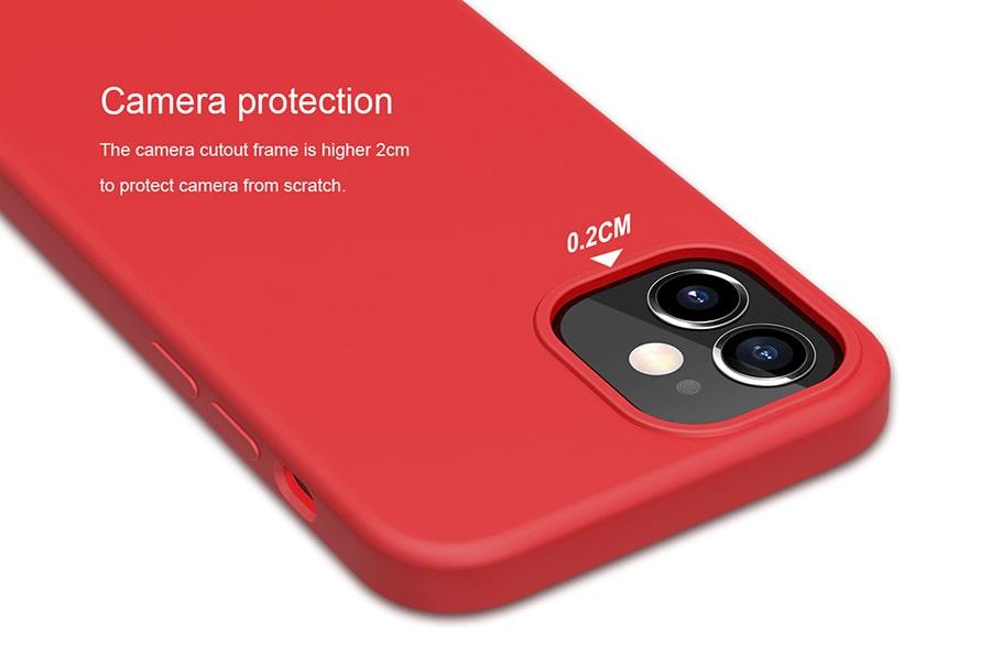 قاب قرمز سیلیکونی iphone 12 mini
