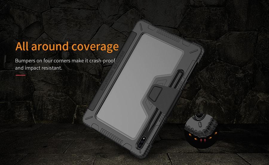 کیف چرمی نیلکین برای تبلت Samsung Tab S7