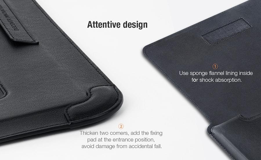 کیف چرمی 14 اینچی لپ تاپ نیلکین