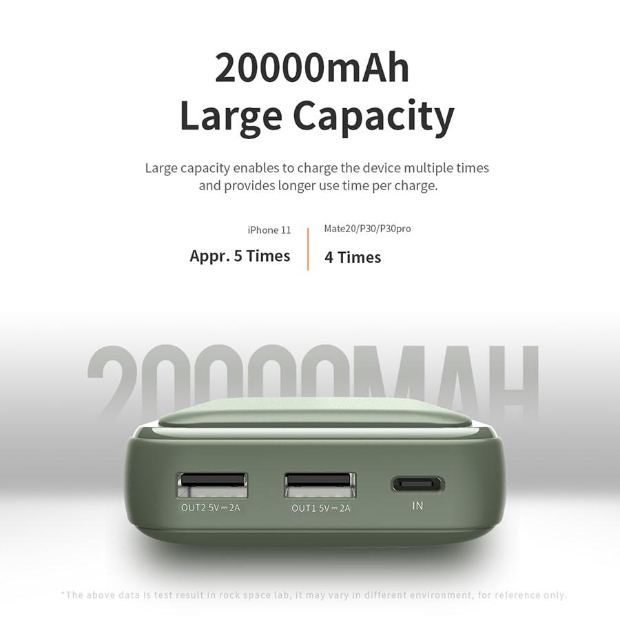 ظرفیت 20000 میلی آمپر ساعتی پاور بانک Rock P65 RMP0416 راک