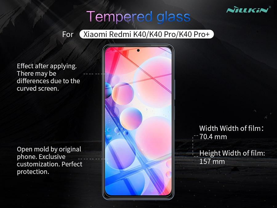 گلس شفاف گوشی Xiaomi Redmi K40/K40 Pro/K40 Pro Plus